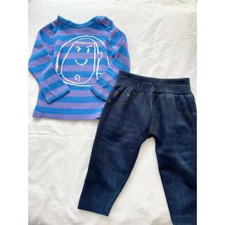 ブリーズ(BREEZE)の男の子 80cm トップス 長ズボン 2枚セット ブリーズ 西松屋(Tシャツ)