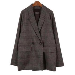 ディーホリック(dholic)の新作セール【韓国ファッション】チェック チェスターコート テーラードジャケット(テーラードジャケット)