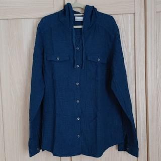 コロンビア(Columbia)のフード付きチェックシャツ(シャツ/ブラウス(長袖/七分))
