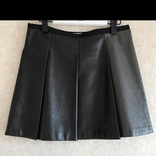 サカイラック(sacai luck)のsacai luck レザー風プリーツスカート(ひざ丈スカート)