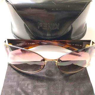 フェンディ(FENDI)のフェンディ FENDI サングラス ケース付き おしゃれ 可愛い ズッカ柄(サングラス/メガネ)