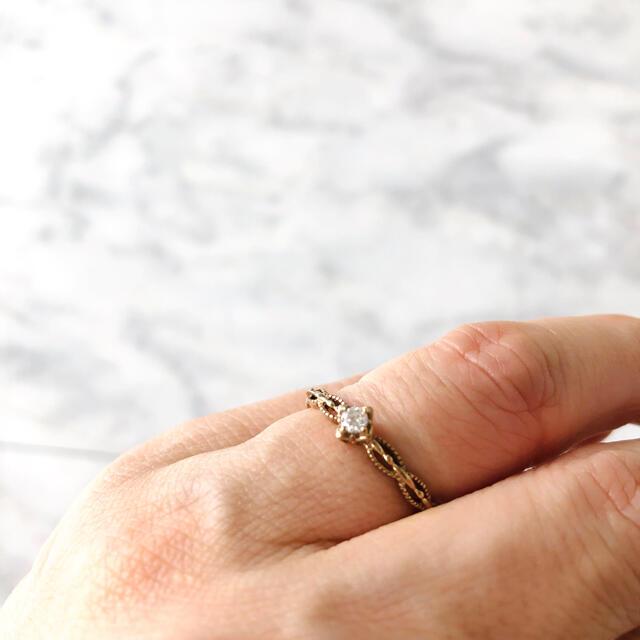 AHKAH(アーカー)のA.D.A k10 YG  ダイヤリング レディースのアクセサリー(リング(指輪))の商品写真