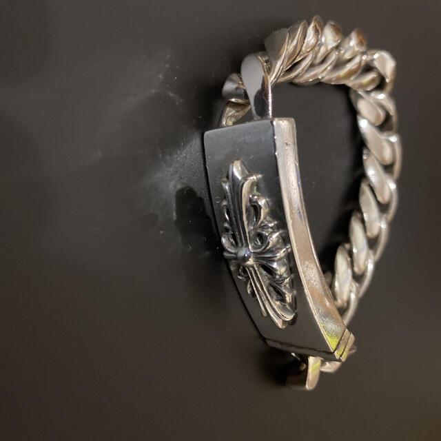 Chrome Hearts(クロムハーツ)のクロムハーツ フローラルクロス IDブレスレット クラシックチェーン メンズのアクセサリー(ブレスレット)の商品写真