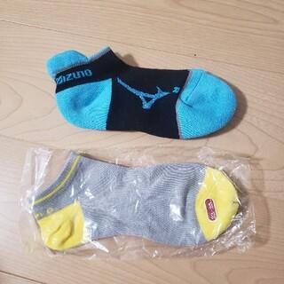 ミズノ(MIZUNO)の未使用!スニーカーソックス 靴下2足 23~25センチ(その他)