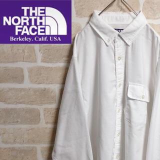 ザノースフェイス(THE NORTH FACE)のノースフェイスパープルレーベル ボタンダウンシャツ 長袖 白 ホワイト 無地(シャツ)