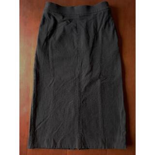 ユニクロ(UNIQLO)のデニムジャージースカート(丈標準73.5~77.5㎝) 09BLACK 黒(その他)