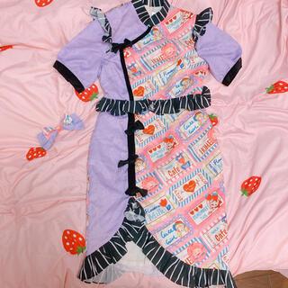 アンジェリックプリティー(Angelic Pretty)のチャイナドレス風 ロリータ ドレス セット(ひざ丈ワンピース)