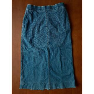 ユニクロ(UNIQLO)のデニムジャージースカート(丈標準73.5~77.5㎝) 68 BLUE(その他)