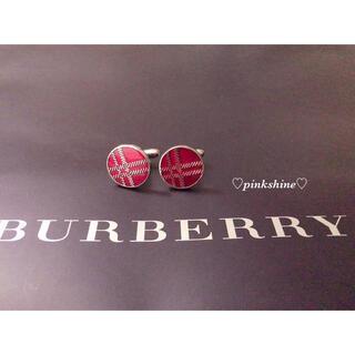 バーバリー(BURBERRY)のBURBERRY BURBERRYチェック/RED/カフス♡新品(カフリンクス)