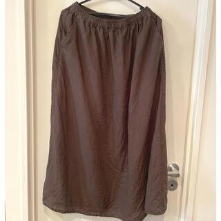 ムジルシリョウヒン(MUJI (無印良品))の無印良品 茶色麻スカート Sサイズ(ロングスカート)