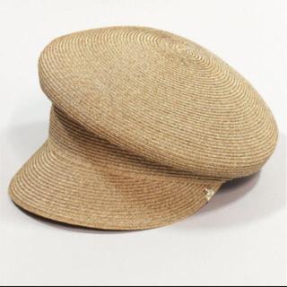 カシラ(CA4LA)の美品 カシラ ペーパーブレード SOMEWHERE17 麦わら帽子 キャスケット(キャスケット)
