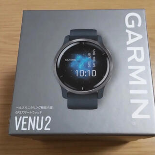 GARMIN - 新品 GARMIN Venu 2 Granite Blue / Silver