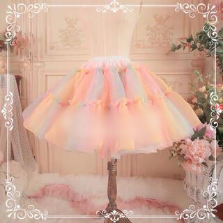Angelic Pretty - 大人気希少品 レインボーフェアリーミルフィーユボリュームパニエ Aライン 虹色