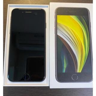 アイフォーン(iPhone)のほぼ新品 simフリー iPhoneSE2 64GB ブラック シムフリー(スマートフォン本体)
