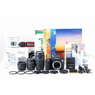 555MR 極上 保証  Canon EOS 6D トリプルレンズ(デジタル一眼)