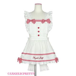 Angelic Pretty - Angelic Pretty Fancy Ribbonエプロン 白×赤