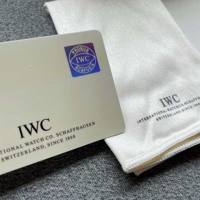 IWC(インターナショナルウォッチカンパニー)の国内正規 IWC MARK ⅩⅤ マーク15 腕時計 黒文字盤 ギャランティ メンズの時計(腕時計(アナログ))の商品写真