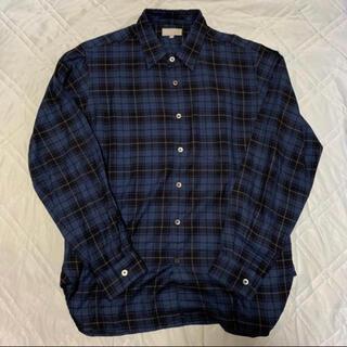 マーガレットハウエル(MARGARET HOWELL)の15AW MARGARET HOWELL コットンカシミヤチェックシャツ M(シャツ)
