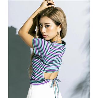 エゴイスト(EGOIST)のBackオープンデザインTOP ZARA H&M GYDA spiralgirl(Tシャツ(半袖/袖なし))