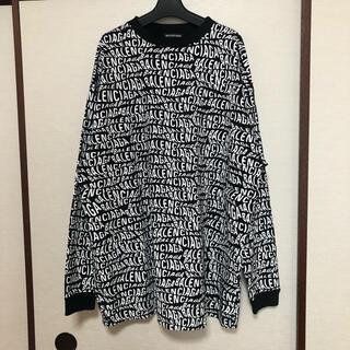 バレンシアガ(Balenciaga)の美品 19AW BALENCIAGA Wave Logo L/S Tee(Tシャツ/カットソー(七分/長袖))