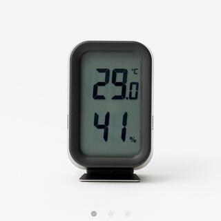 ムジルシリョウヒン(MUJI (無印良品))の無印良品 デジタル温湿度計 ブラック/型番:MJ‐DTHB1(置時計)