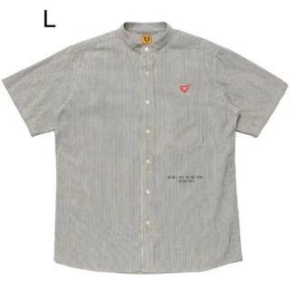 human made shirt L stripe stand collar(シャツ)
