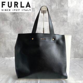 フルラ(Furla)の【FURLA】フルラ MUSA バイカラー 白 黒 A4 レザー トートバッグ(トートバッグ)