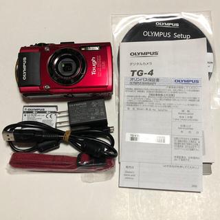 オリンパス(OLYMPUS)のオリンパス  OLYMPUS TG-4 レッド TG-5 ブラック セット中古(コンパクトデジタルカメラ)