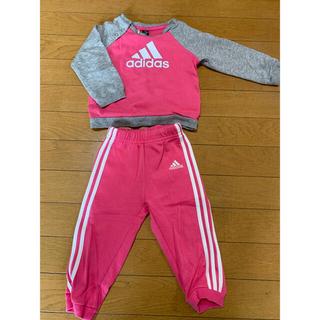 アディダス(adidas)のアディダス adidas ジャージ 上下 セットアップ 80 ピンク 女の子(トレーナー)