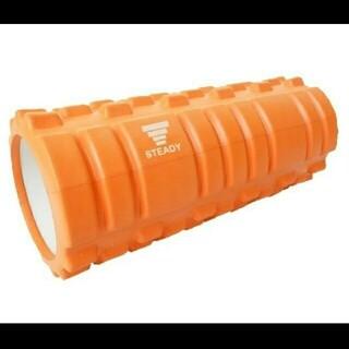 フォームローラー 筋膜リリース ストレッチ ポール 収納袋付 オレンジ(エクササイズ用品)