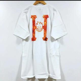 ハフ(HUF)のHUF × SPITFIRE H コラボ Tシャツ 半袖 メンズ 白 XL(Tシャツ/カットソー(半袖/袖なし))
