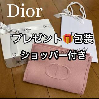 Christian Dior - ディオール ノベルティ  ピンク ポーチ 箱 リボン🎀 ショッパー付き 新品