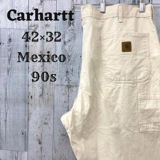 カーハート(carhartt)の90s カーハート ペインターパンツ ホワイト(白)42×32 メキシココットン(ペインターパンツ)