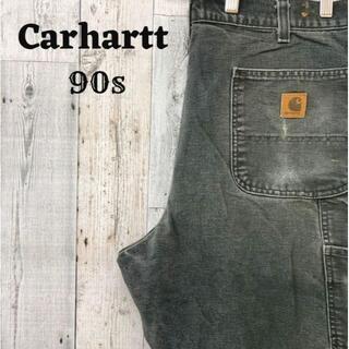 カーハート(carhartt)の90s カーハート Carhartt ペインターパンツ グレー(灰)コットン(ペインターパンツ)