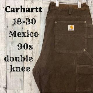 カーハート(carhartt)の90s カーハート ペインターパンツ ダブルニーブラウン(茶)18×30コットン(ペインターパンツ)