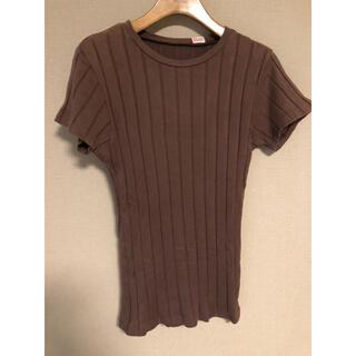 ロンハーマン(Ron Herman)のyoung&olsen 定番リブカットソー ブラウン(Tシャツ(半袖/袖なし))