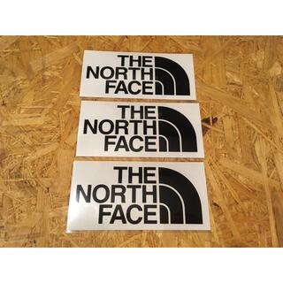 ザノースフェイス(THE NORTH FACE)のノースフェイス カッティングステッカー 黒 3枚 正規品(その他)