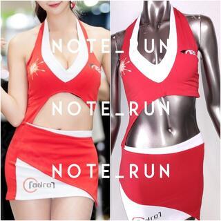 【xra】コスチューム RQ レースクイーン 衣装 赤・白(衣装一式)