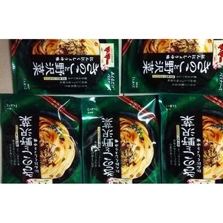 ニッシンセイフン(日清製粉)のママー パスタソース きのこと野沢菜 にんにくしょうゆ味(レトルト食品)