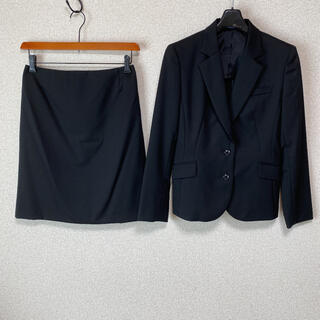 アオキ(AOKI)のレミュー スカートスーツ 上M下L W72 黒 就活 DMW 未使用に近い(スーツ)