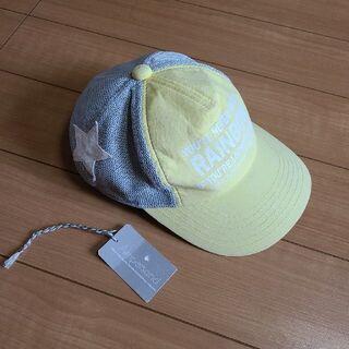 アンパサンド(ampersand)のアンパサンド 星付きメッシュキャップ 帽子 48~50 黄色(帽子)