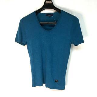 バーバリー(BURBERRY)のバーバリーロンドン 半袖セーター 1 S美品 (ニット/セーター)