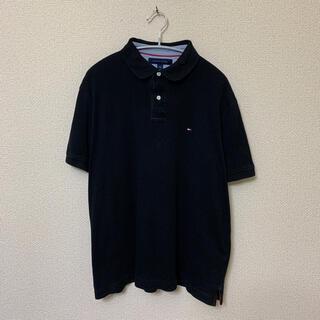トミーヒルフィガー(TOMMY HILFIGER)のTOMMY HILFIGER トミーヒルフィガー ポロシャツ USA輸入古着 L(ポロシャツ)
