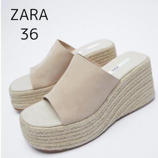 ZARA - ZARA  スエードストラップ ウェッジソール 36