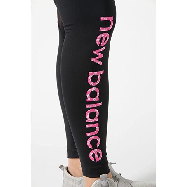 New Balance(ニューバランス)のニューバランス レギンス ブラック Lサイズ SAKURA ロゴ レディースのレッグウェア(レギンス/スパッツ)の商品写真