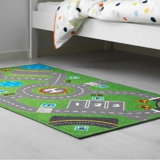 イケア(IKEA)のイケア 道路電車ラグ じゅうたん マット グリーン ストラボ(30356824)(ラグ)
