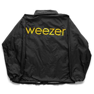 00sヴィンテージ|Weezer 2001ツアー コーチジャケット [L](ナイロンジャケット)