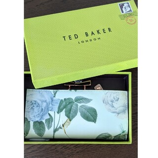 テッドベイカー(TED BAKER)の美品☆テッドベイカー TED BAKER 長財布 バラ トンボ パステルカラー (財布)