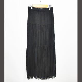 ダブルスタンダードクロージング(DOUBLE STANDARD CLOTHING)のダブルスタンダードクロージング ダブスタ ロングスカート シフォン 黒 F(ロングスカート)