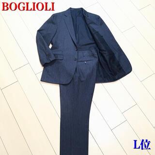 ボリオリ(BOGLIOLI)の極美品★ボリオリ×カシミヤ混 極上グレー ストライプ スーツ 秋冬 灰 A422(セットアップ)
